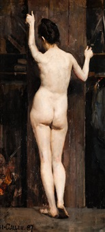 nude model by akseli valdemar gallen-kallela