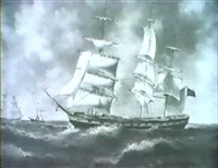 british schooner in high seas by robinson jones