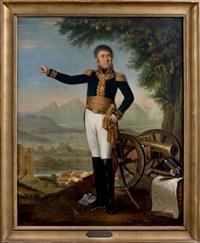 portrait en pied du général de division, baron de lamartinière by laurent dabos