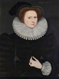 portrait of a lady, thought to be mary queen of scots (1542-1587) by british school (16)