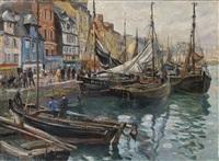 le havre, le bassin du roy et le quai videcoq by raymond (louis) le court
