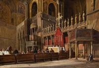 vue intérieure de la basilique saint marc à venise by frans vervloet
