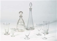 drinking glasses and decanters (28 pieces) by k.p.c. de bazel