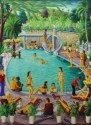 resort pool scene by andré normil