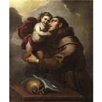 sant'antonio da padova col bambino by gioacchino assereto