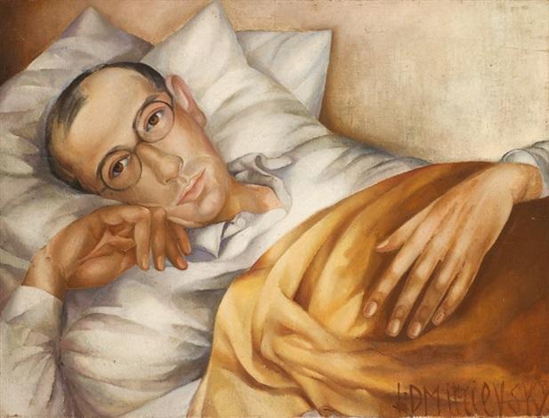portrait of the artists husband serge dmitrievsky by lydia dmitrievsky