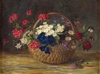 gebirgsblumen in korb by maria kistler