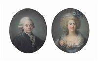portrait of a lady and portrait of a gentleman, both bust-length (pair) by adélaïde labille-guiard