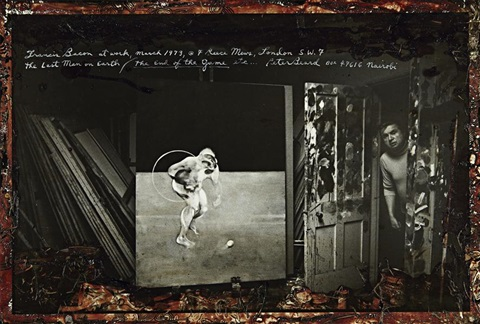 francis bacon at work 7 reece mews london march by peter beard