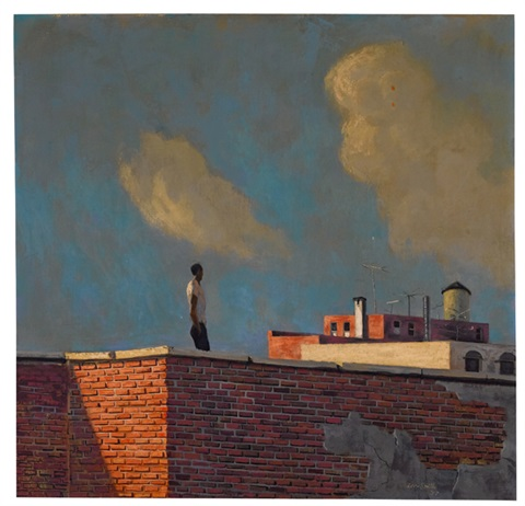 untitled rooftop view from reflection by hughie lee smith