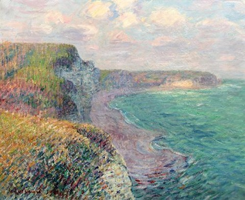 falaises dyport by gustave loiseau