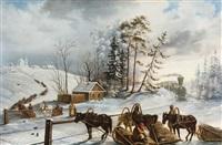 le passage du train by mikhail ivanovich mikhailov