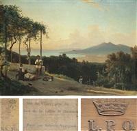 vue du vésuve prise du haut de la colline de quisisana by gabriele smargiassi