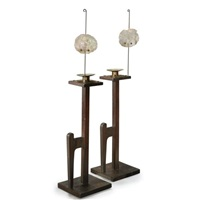 heidelberg candle stands (model no. 20) (pair) by charles rohlfs