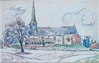 l'église de brinon-sur-sauldre by paul signac