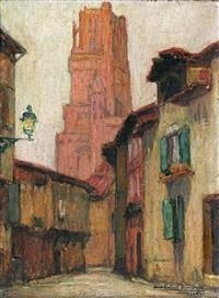 la rue des prêtres, albi by jean-gabriel domergue