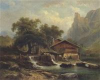 bei scharrenstein in oberösterreich by carl haunold