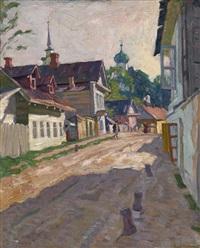 street in pskov by arnold borisovich lakhovsky