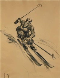 le skieur by jean jacoby