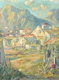 mountain village by peter van den braken