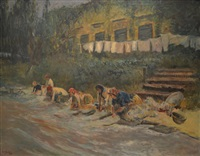 lavanderas by crisanto del monaco