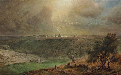 study for jerusalem by frederic edwin church