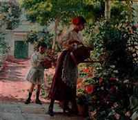 regando las flores by federico godoy y castro