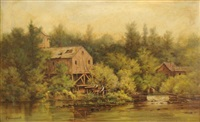stream with mill by thomas campbell