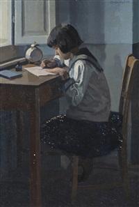 bimba allo scrittoio by llewelyn lloyd