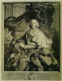 retrato de andré hercules, cardenal de fleury by pierre-imbert drevet