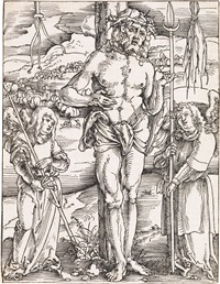 christ as the man of sorrows (from speculum passionis domini nostri ihesu christi) by hans baldung grien