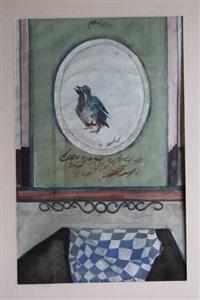 vogeltje, budapest, schoenleest, naaktstudie (4 works) by jan van heel