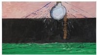 light on green sea by philip guston
