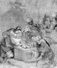 the adoration of the shepherds by alessandro tiarini