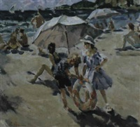 sur la plage by nikolai repine