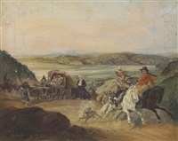 the road from santiago to valparaíso by johann moritz rugendas