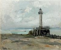 l'ancien phare de honfleur by fernand herbo