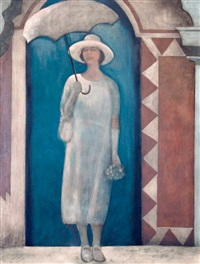 lady with parasol by brian smyth