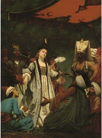 catherine i of russia negotiating the treaty of prut with the turks by gustave clarence rodolphe boulanger