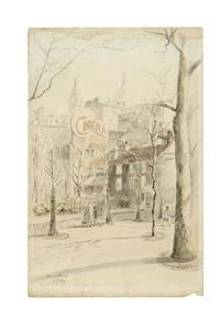 une vue de la place des abbesses by charles samson