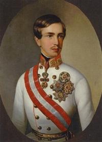 porträt kaiser franz joseph i. von österreich in feldmarschallsuniform mit ordensschmuck by friedrich krepp