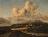 le coup de soleil (after jacob van ruysdael) by georges michel