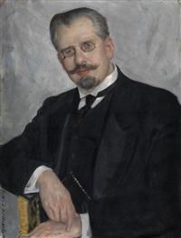 portrait of the professor of medicine ernest gize by boris mikhailovich kustodiev