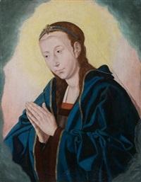 vierge en prière by hugo van der goes