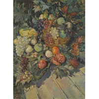 still life with fruit by constantin alexeevich kerovin and alexei konstantinovich korovin