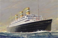 """s.s. statendam"" at sea by frederick j. hoertz"