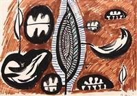 abstract composition by bedri rahmi eyuboglu