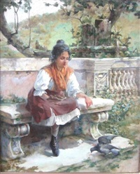 sharing a snack by charles john arter