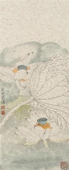 荷花 by jiang hongwei