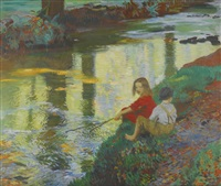 the young anglers by dame laura knight